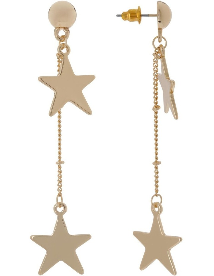 Chain Star Earrings Gold image 2