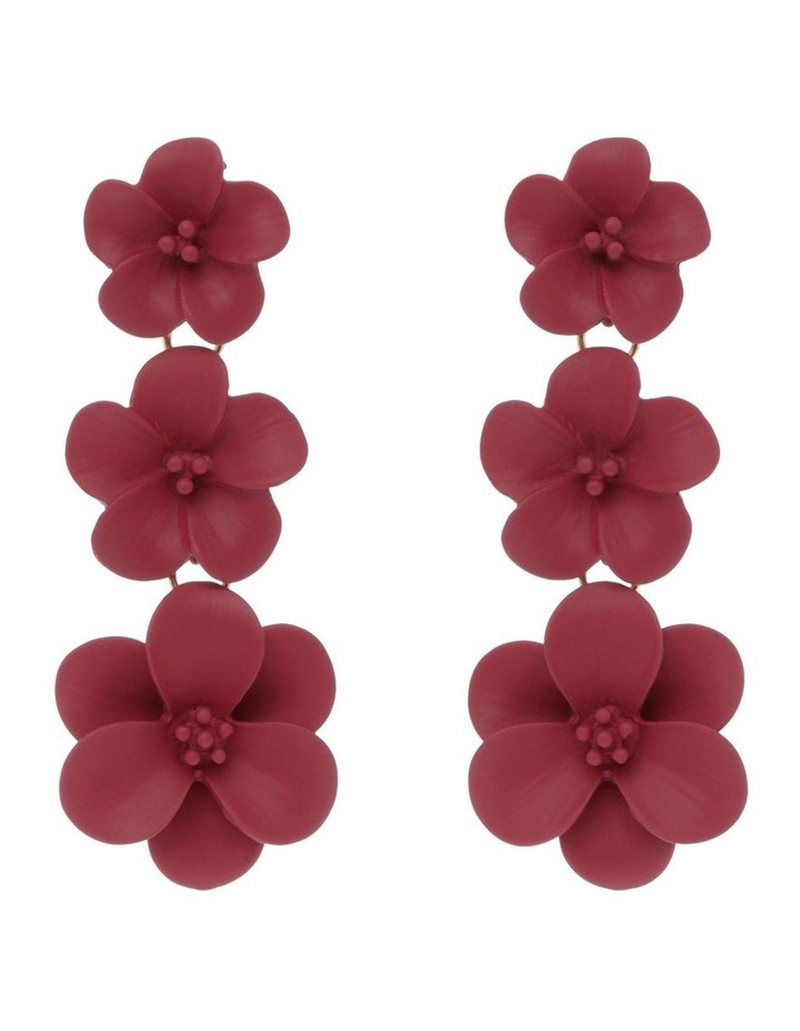 New Rose Floral Drop Earring image 1
