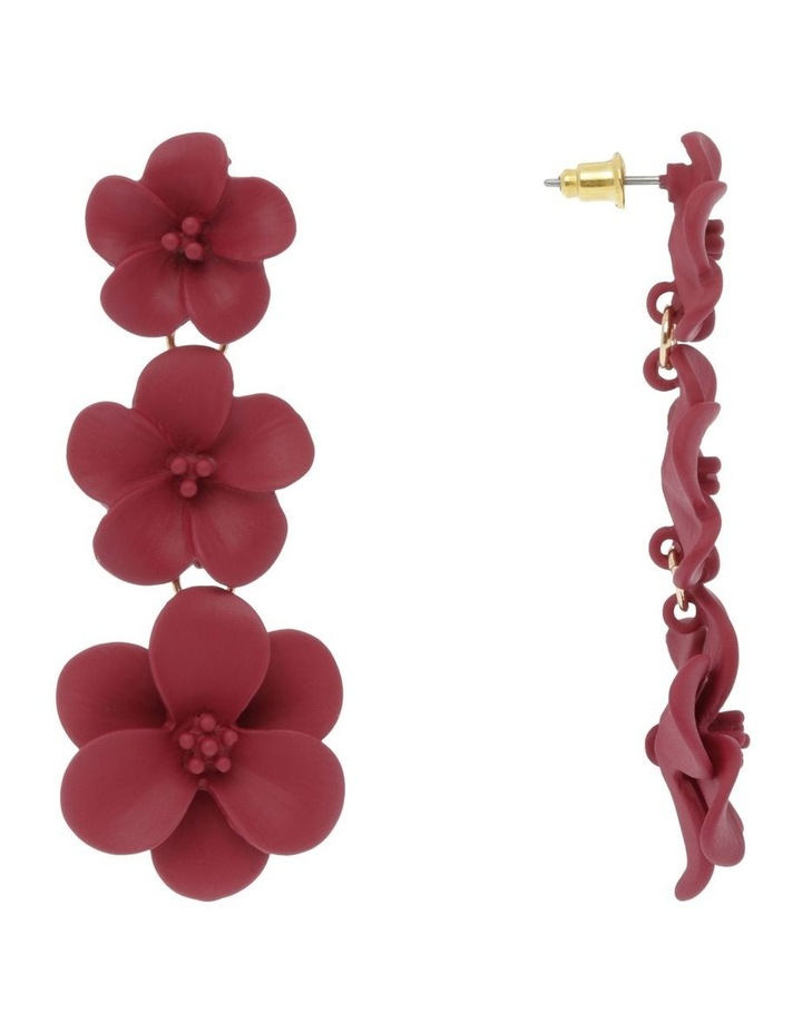 New Rose Floral Drop Earring image 2