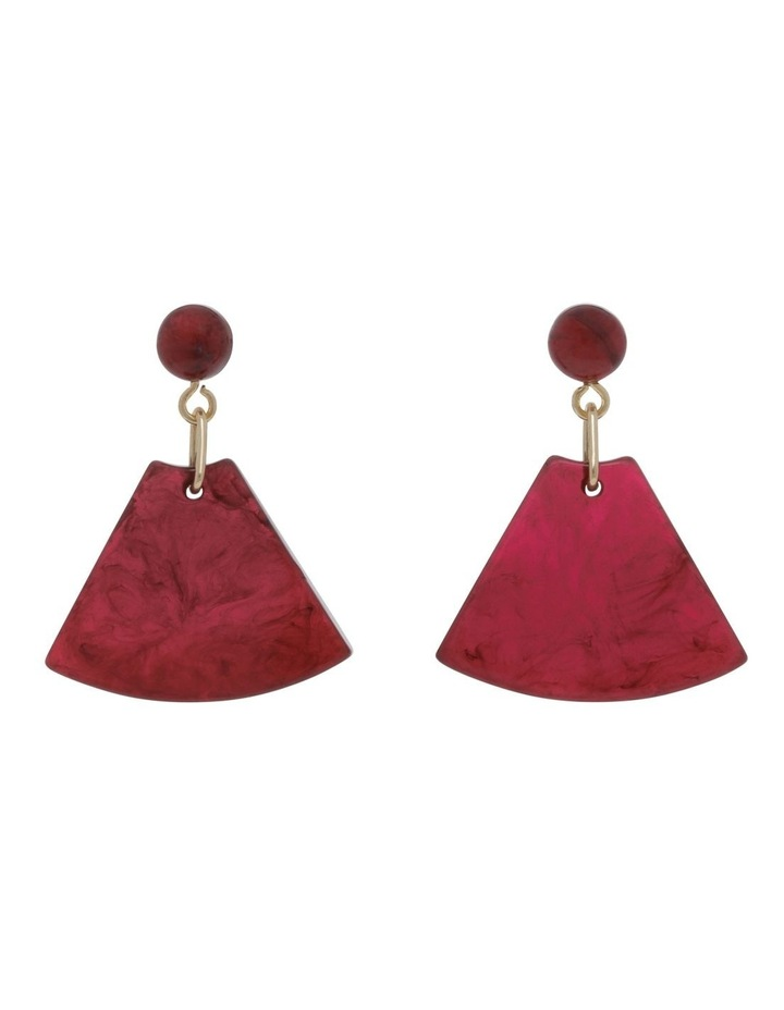 Rose Triangle Drop Earring image 1