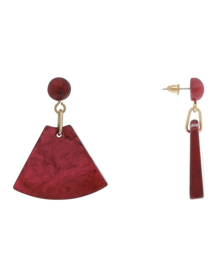 Rose Triangle Drop Earring image 2