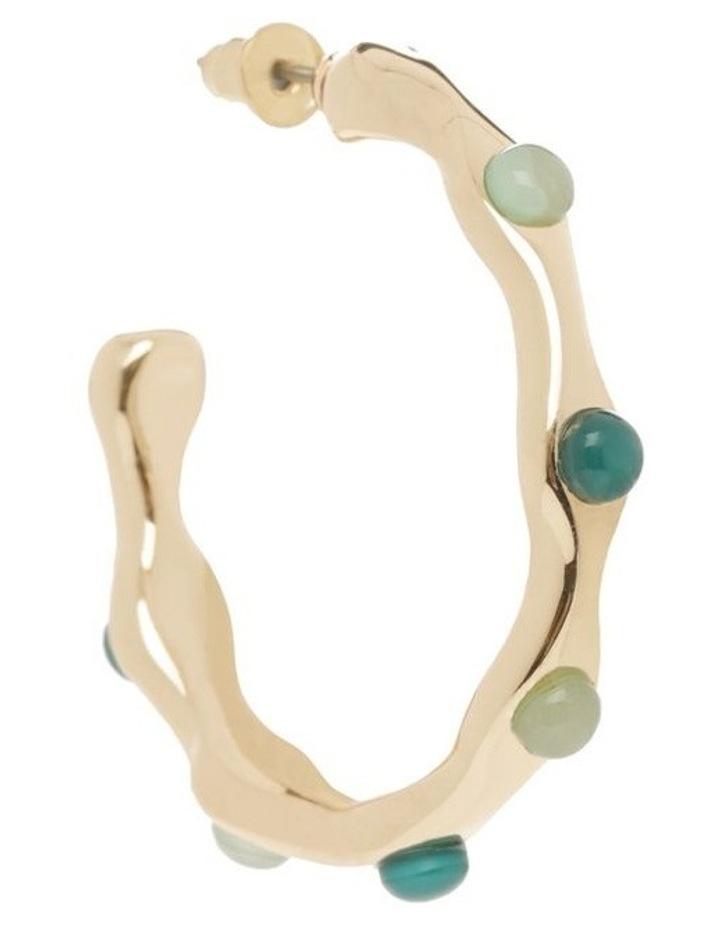 Forest & Mint Stone Hoop Earring image 2