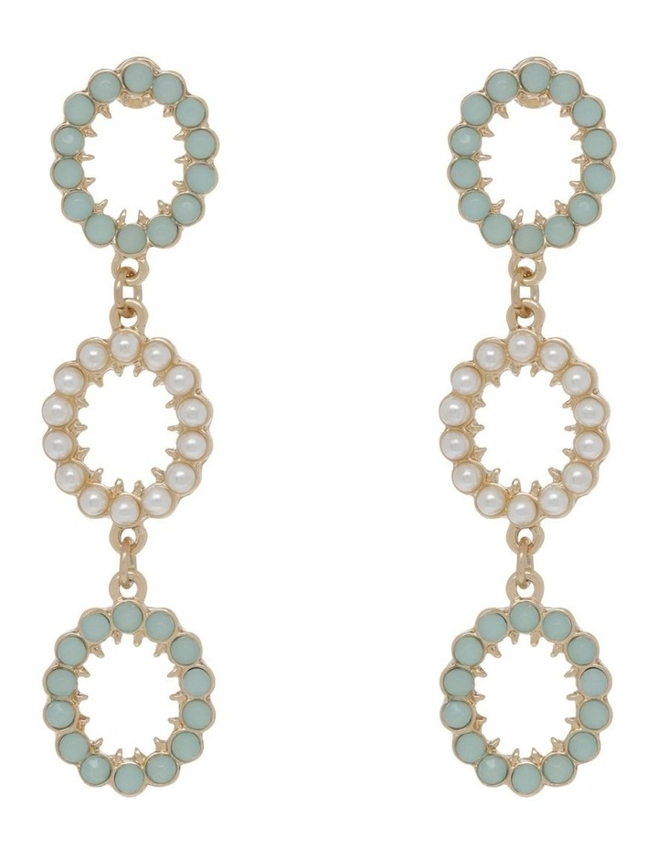 Mint Statement Stone Earrings image 1