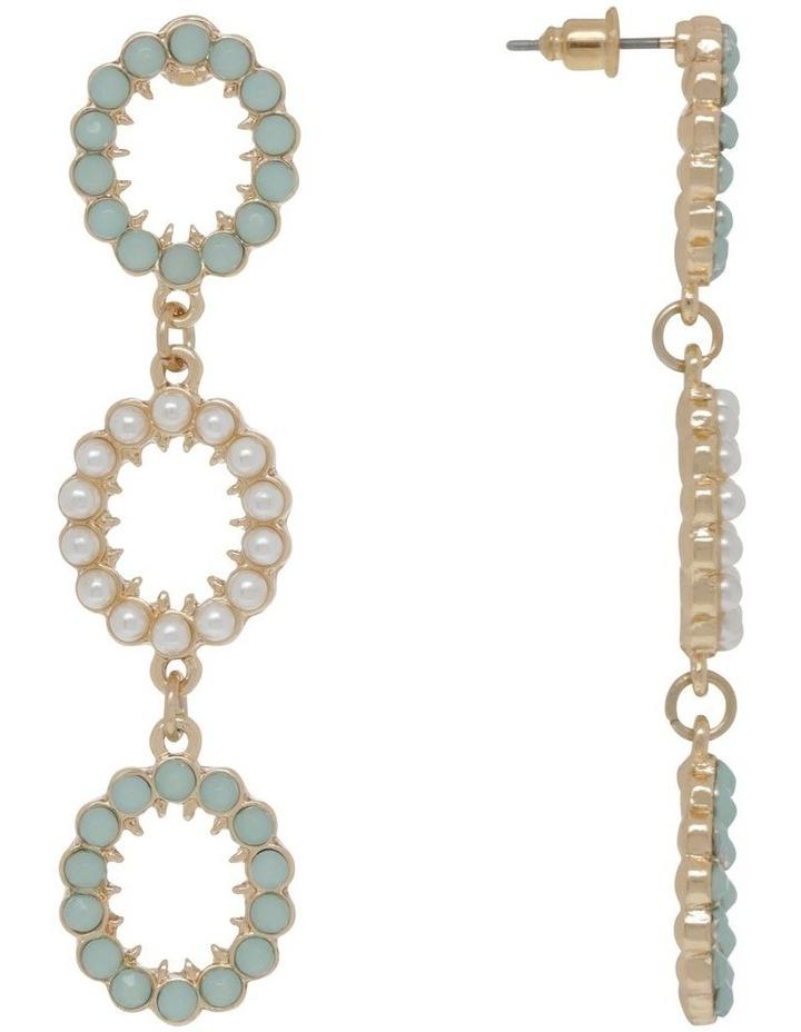 Mint Statement Stone Earrings image 2