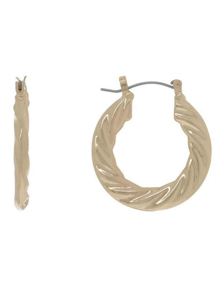Gold Graduated Twist Hoop Earring image 1