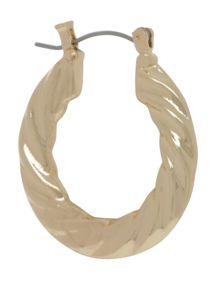 Gold Graduated Twist Hoop Earring image 2