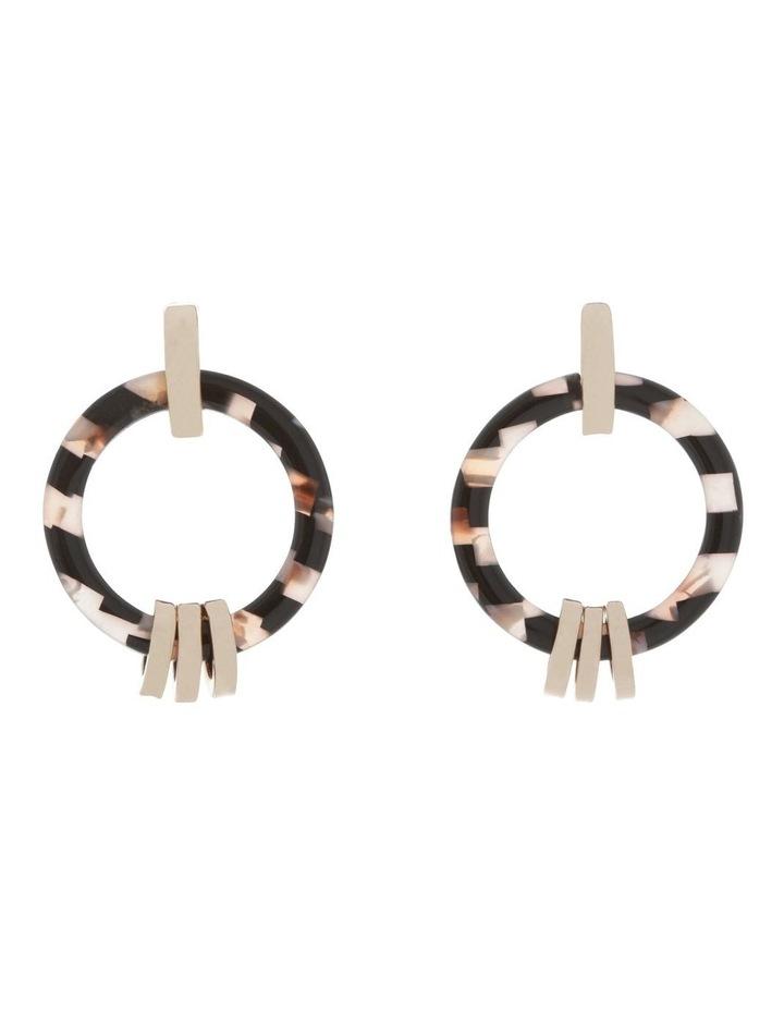 Gold Link Hoop Tort Earring image 1