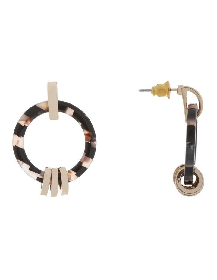 Gold Link Hoop Tort Earring image 2