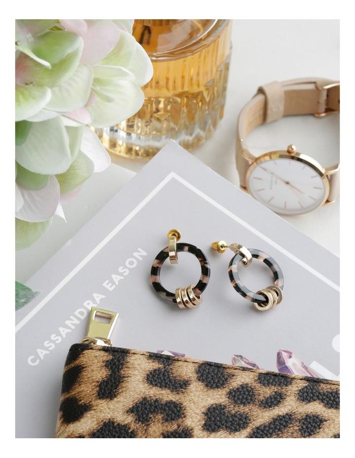 Gold Link Hoop Tort Earring image 3