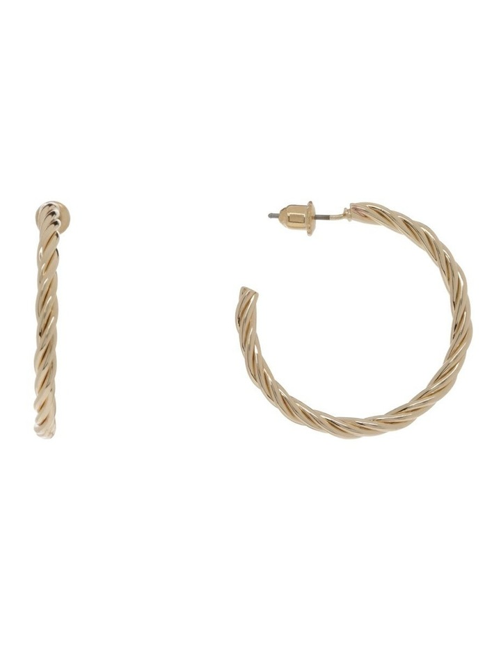 Twist Hoop Earring Gold image 1
