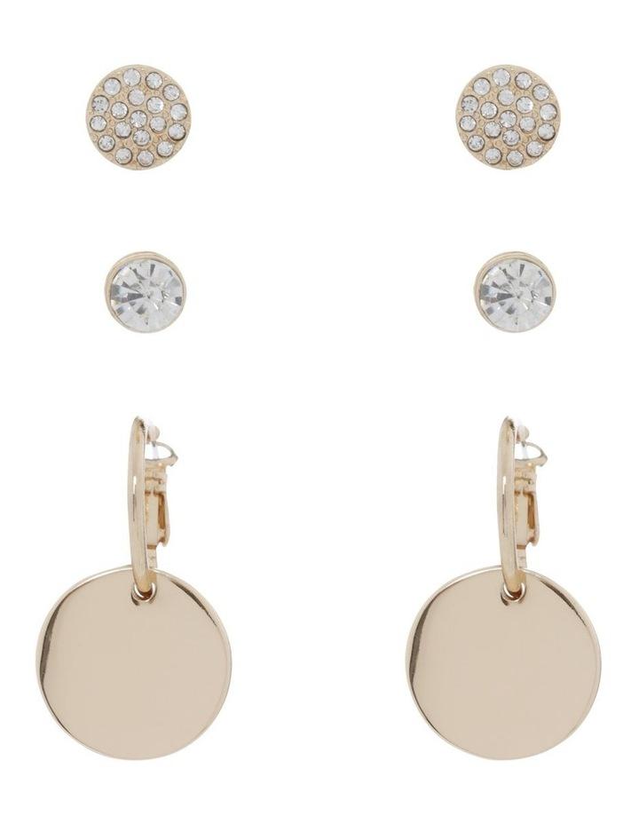 Gold Triple Multi Earring Pack image 1