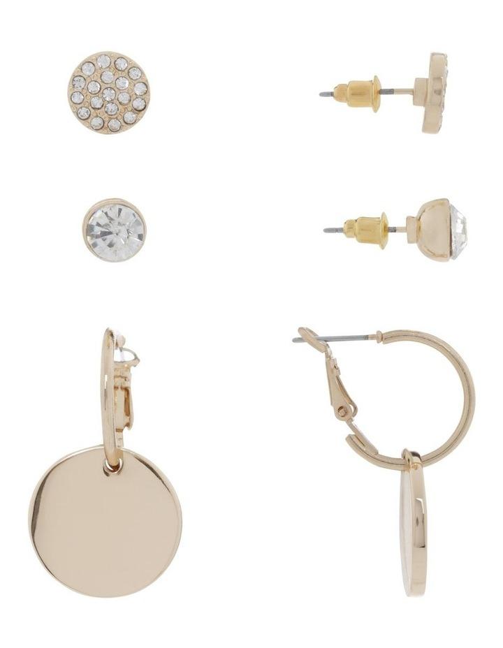 Gold Triple Multi Earring Pack image 2