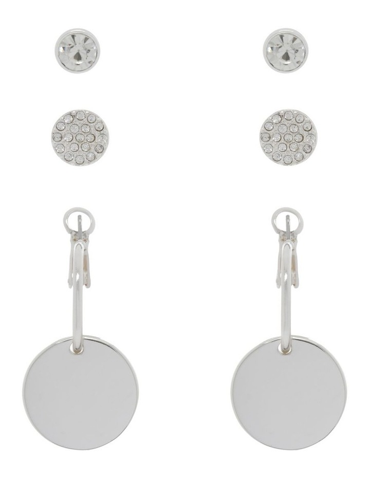 Silver Triple Multi Earring Pack image 1