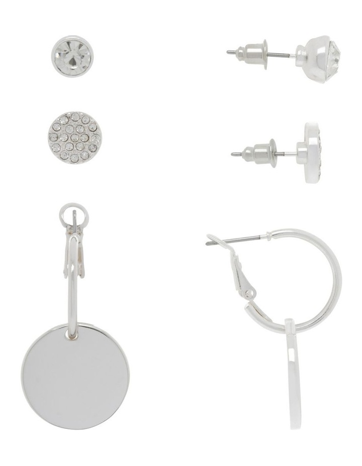Silver Triple Multi Earring Pack image 2