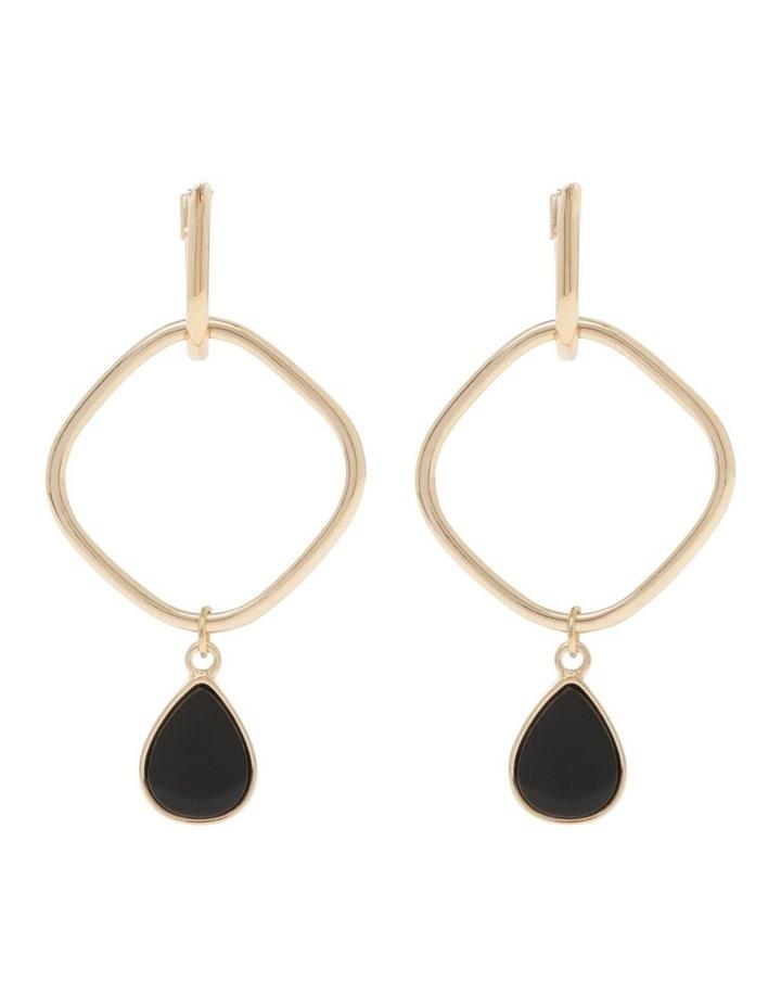 Black Dainty Drop Earring image 1