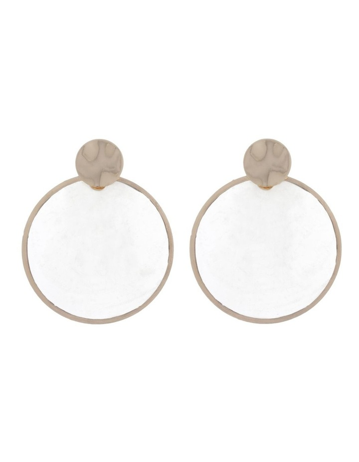 Statement Shell Disc Earring image 1