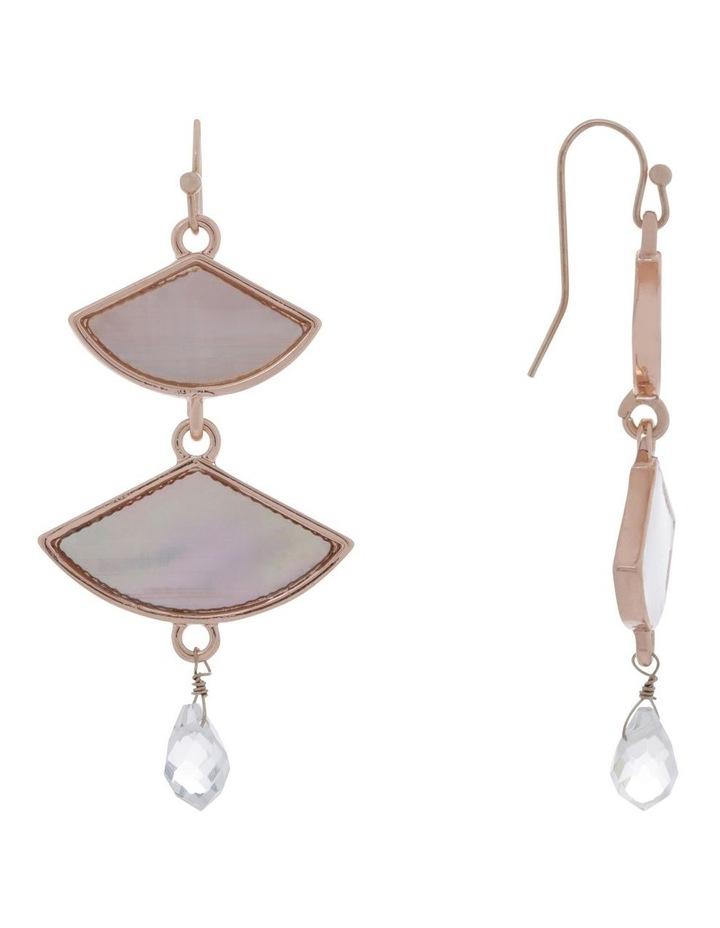 Mother Of Pearl Fan Earring image 2