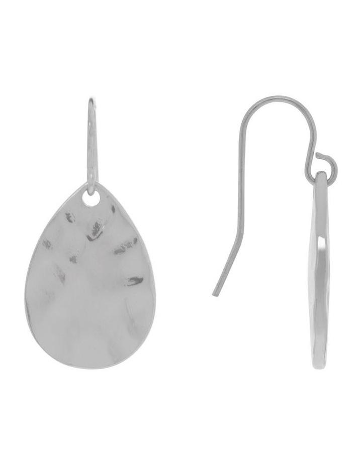 Hammered Teardrop Earring image 2