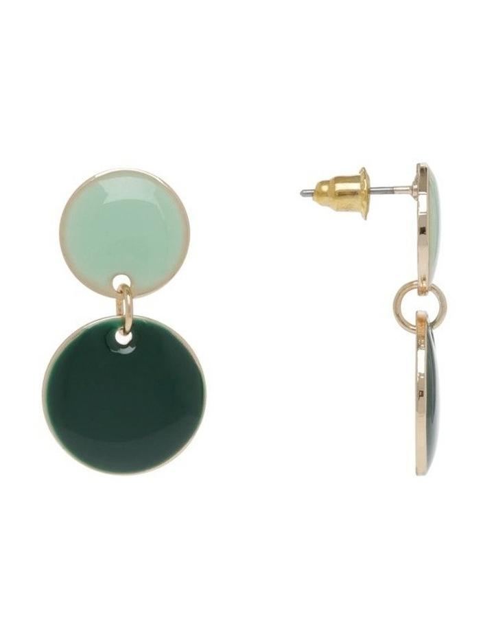 Small Enamel Dangle Drop Earrings image 2