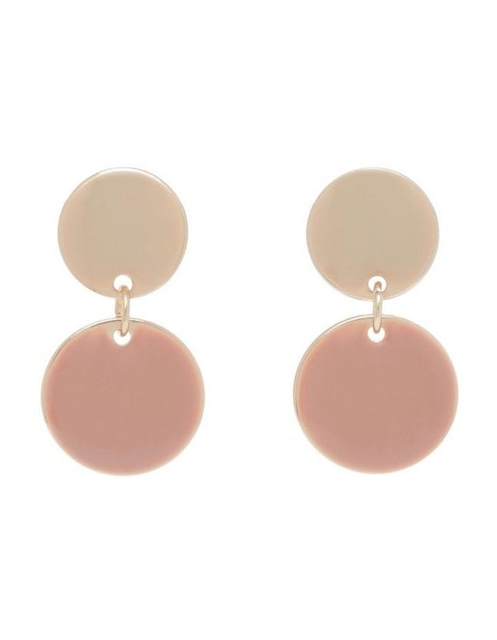 Small Enamel Dangle Drop Earrings image 1
