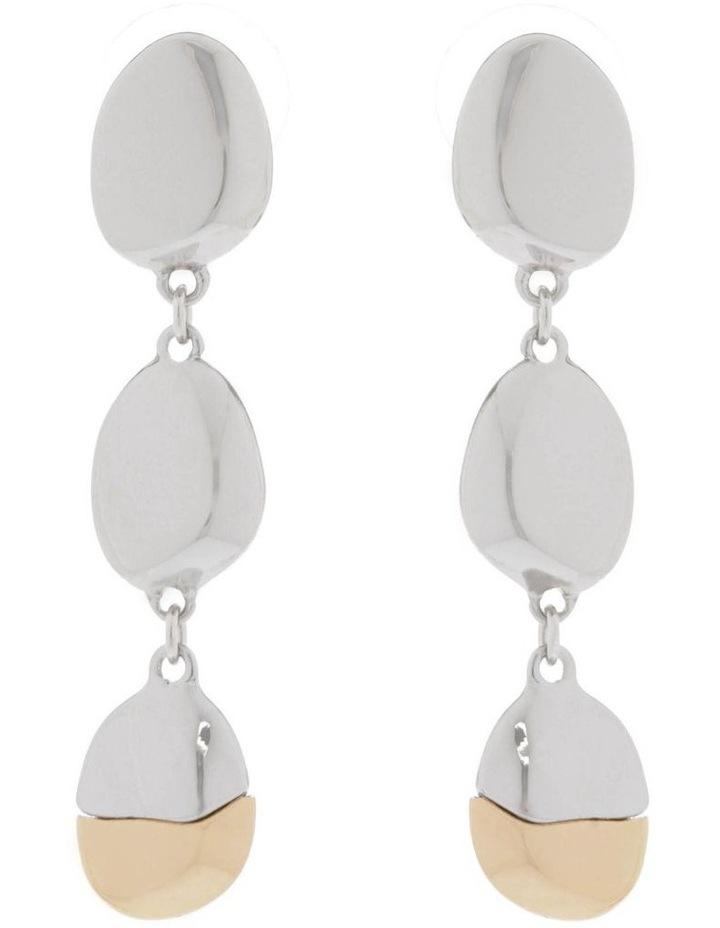 Molten Metal Statement Drop Earrings image 1