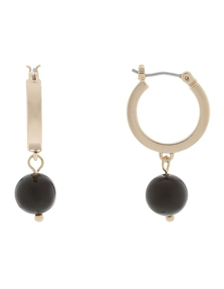 Mini Hoop & Ball Drop Earrings image 1