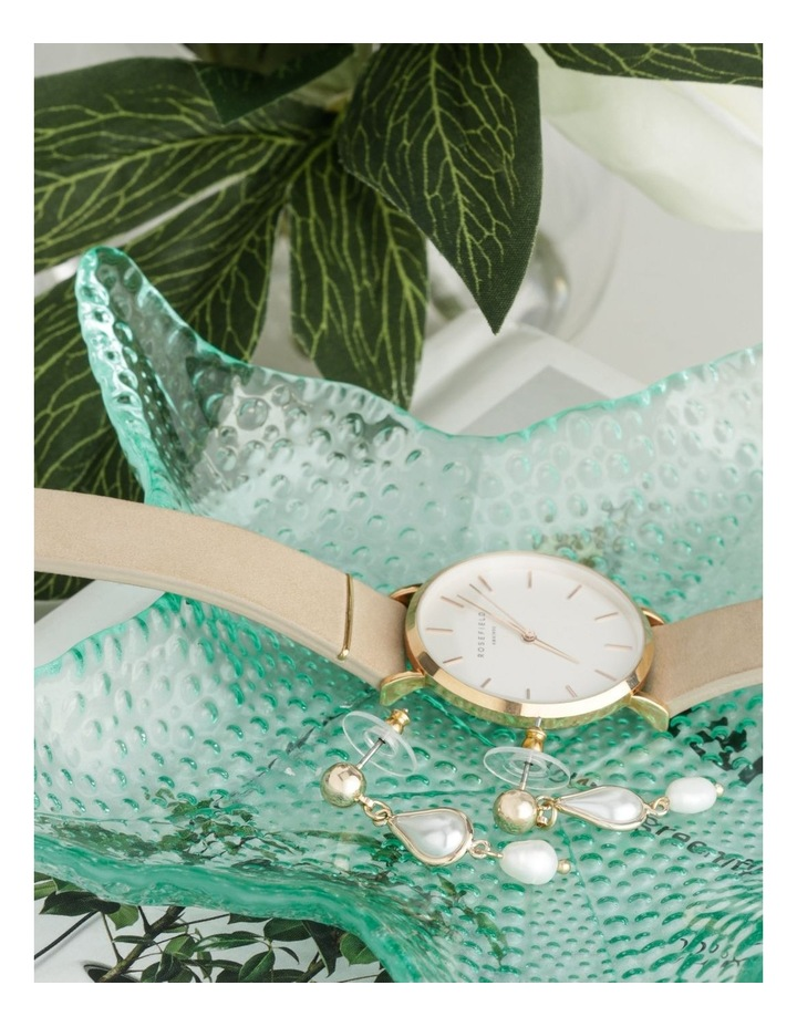 Delicate Drop Studded Pearl Earrings image 3