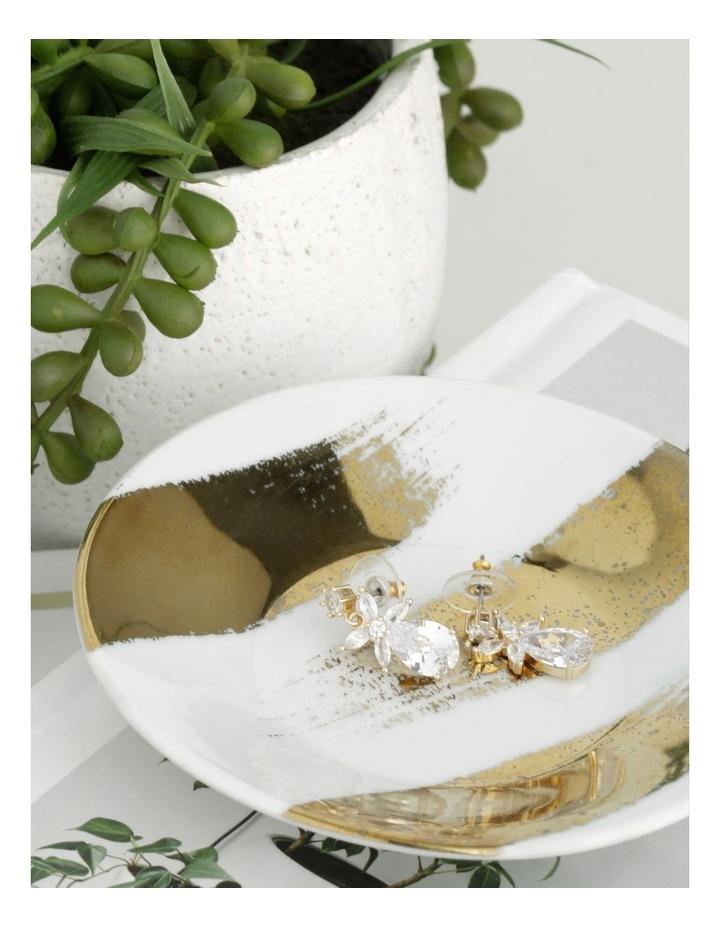 Crystal Flower CZ Drop Earrings image 3