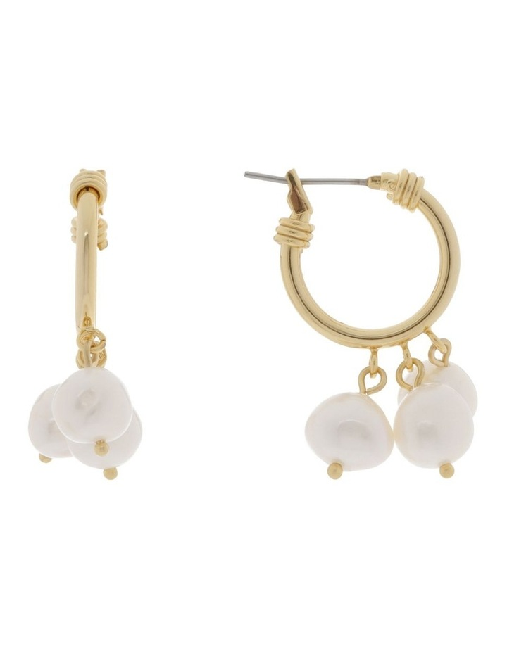 Freshwater Pearl Dangle Hoop Earrings image 1