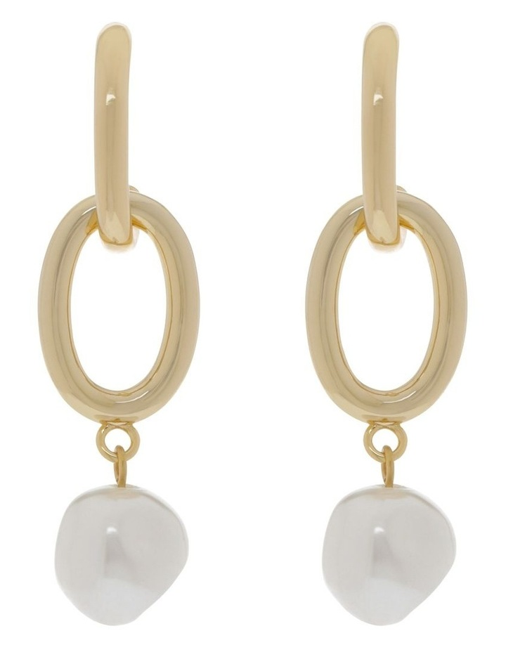 Chain & Pearl Statement Earrings image 1