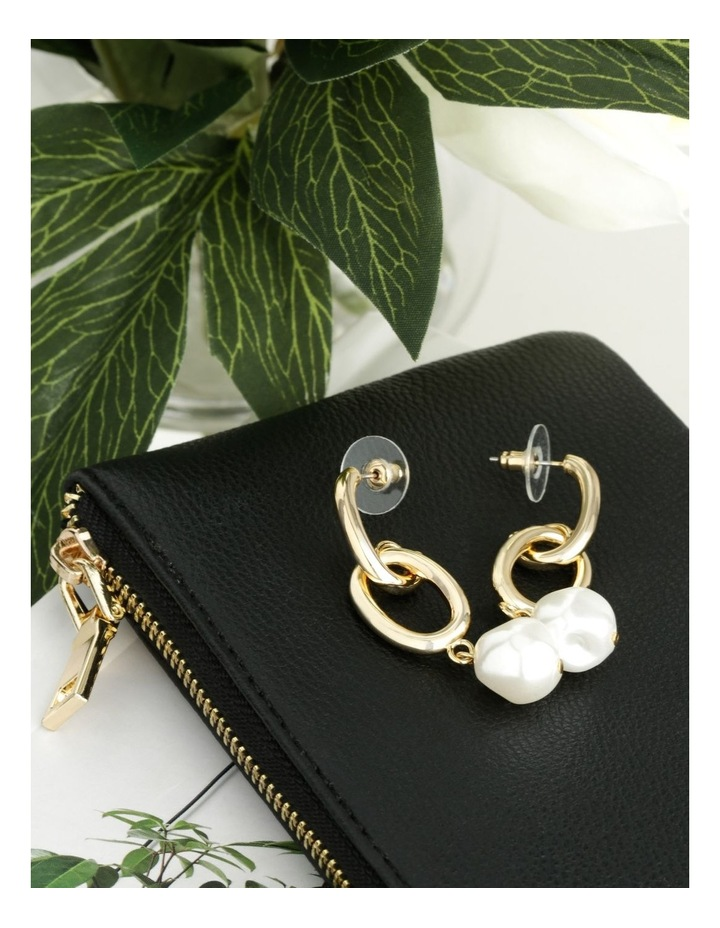 Chain & Pearl Statement Earrings image 3