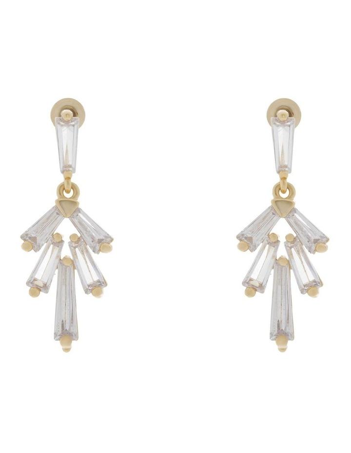 Modern Crystal Drop Stud Earrings image 1