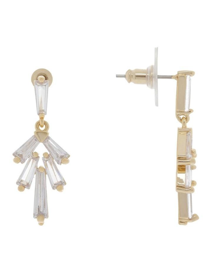Modern Crystal Drop Stud Earrings image 2