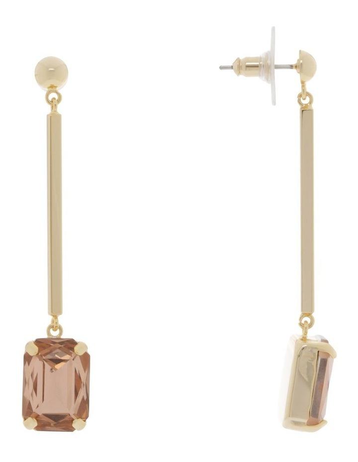 Crystal Square Drop Earrings image 2