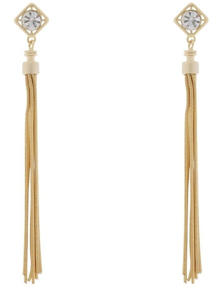 Crystal & Tassel Earrings image 1