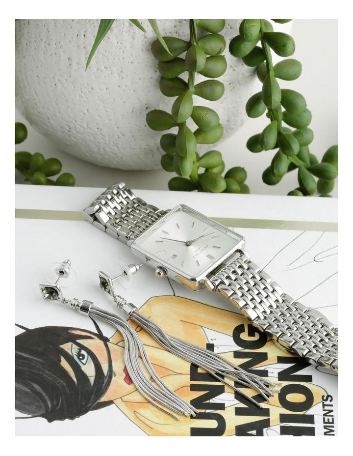Crystal & Tassel Earrings image 3