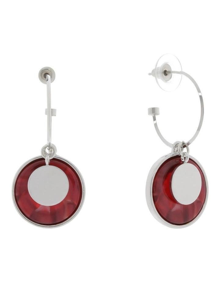 Tortoiseshell Hoop & Disc Drop Earrings image 2