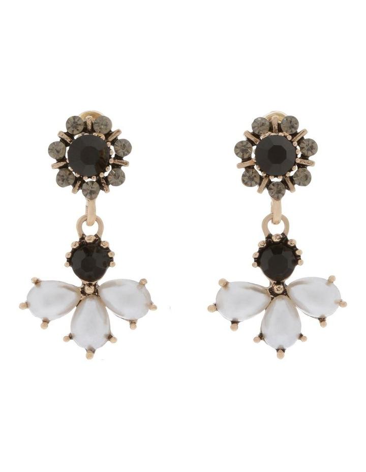 Cluster Pearl & Crystal Stud Earrings image 1