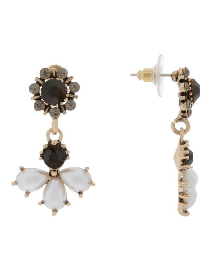 Cluster Pearl & Crystal Stud Earrings image 2