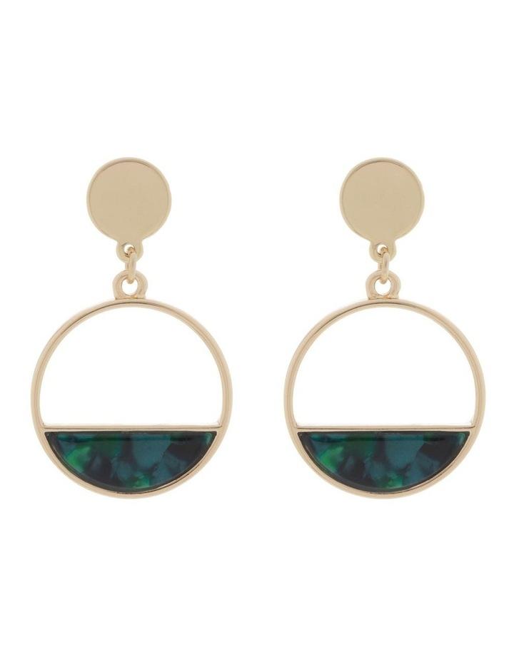 Resin Stud & Half Circle Drop Earrings image 1