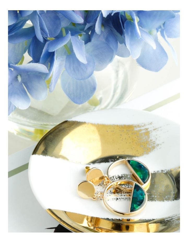 Resin Stud & Half Circle Drop Earrings image 3