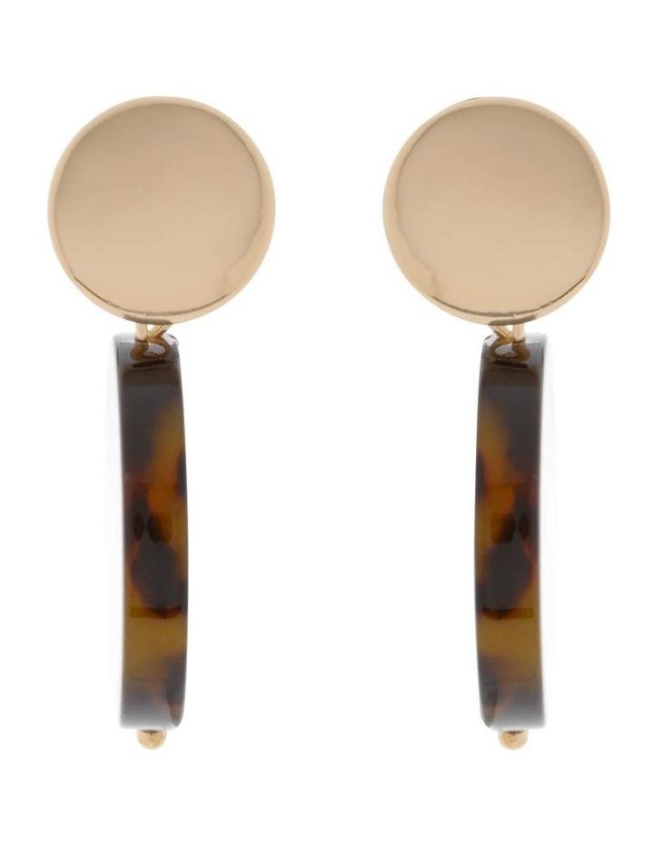 Resin Drop Disc Stud Earrings image 1