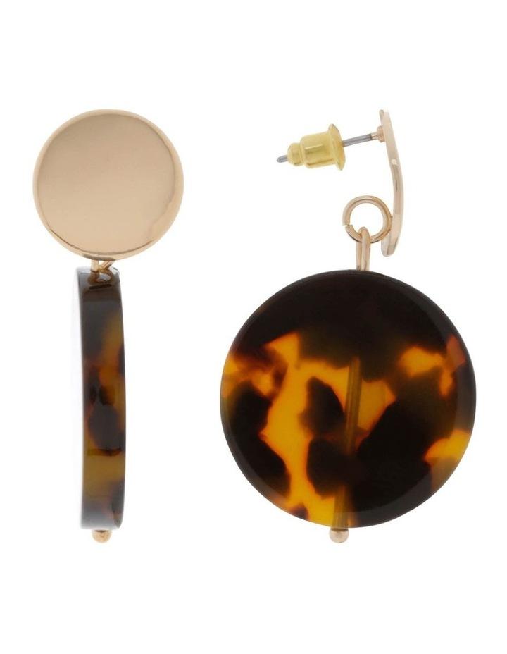 Resin Drop Disc Stud Earrings image 2
