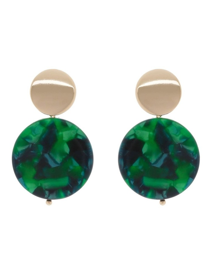 Resin Drop Disc Stud Earrings image 1