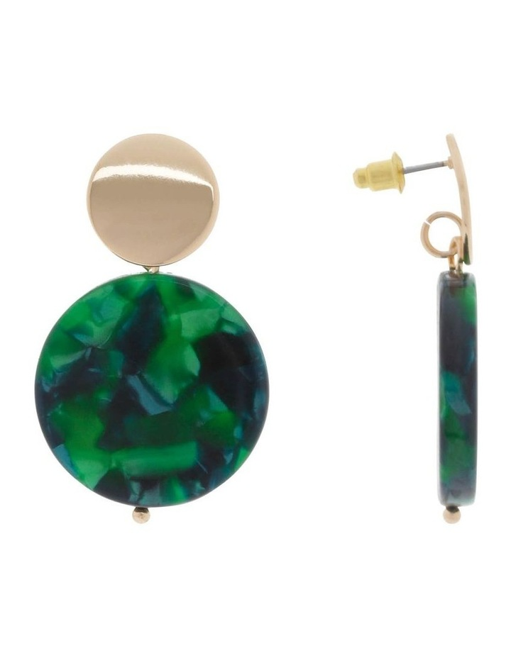 Resin Drop Disc Stud Earrings image 2