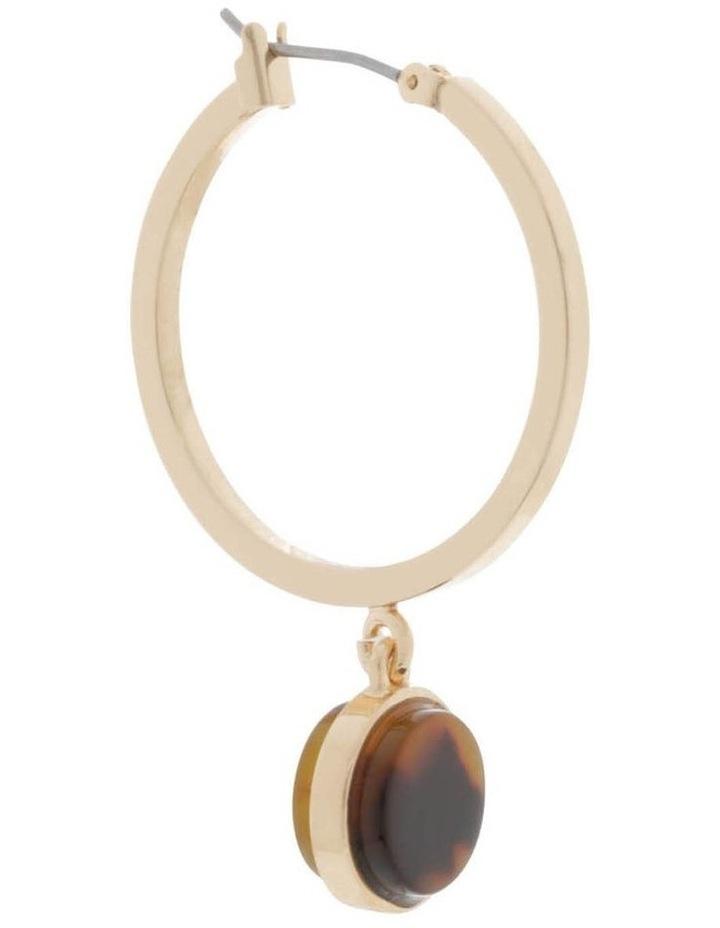 Drop Hoop Earrings with Resin Setting image 2