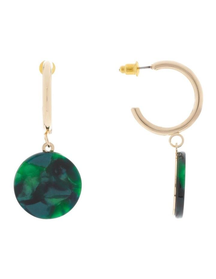 Hoop & Resin Disc Drop Earrings image 1