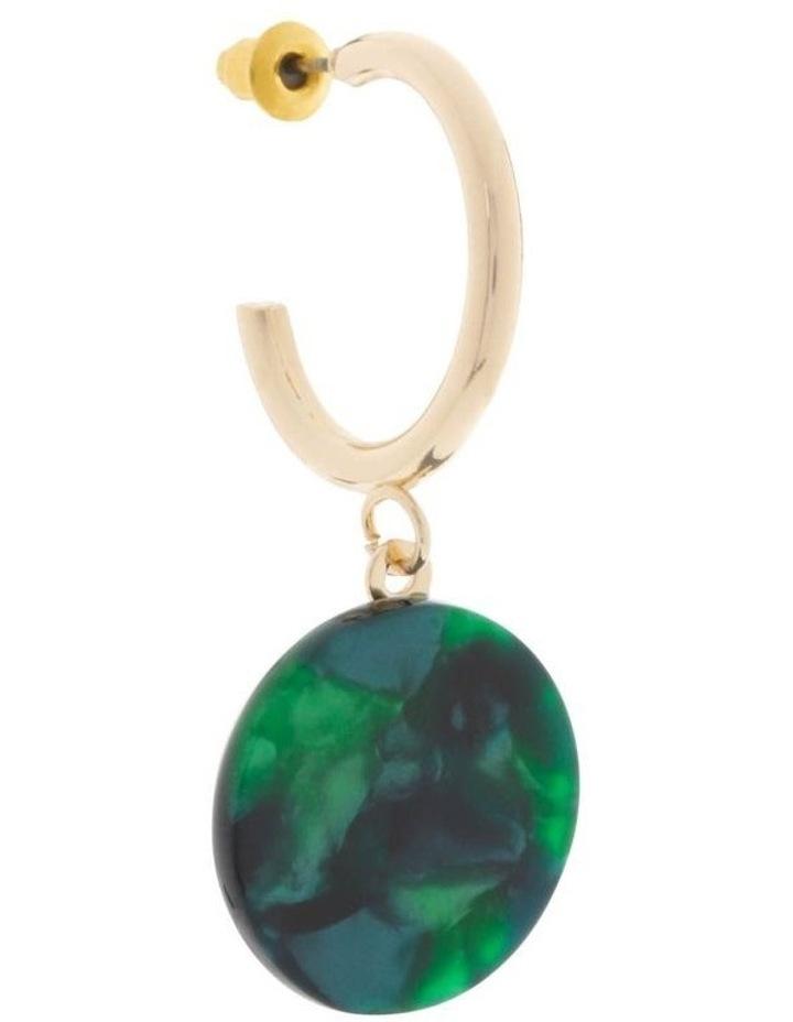 Hoop & Resin Disc Drop Earrings image 2
