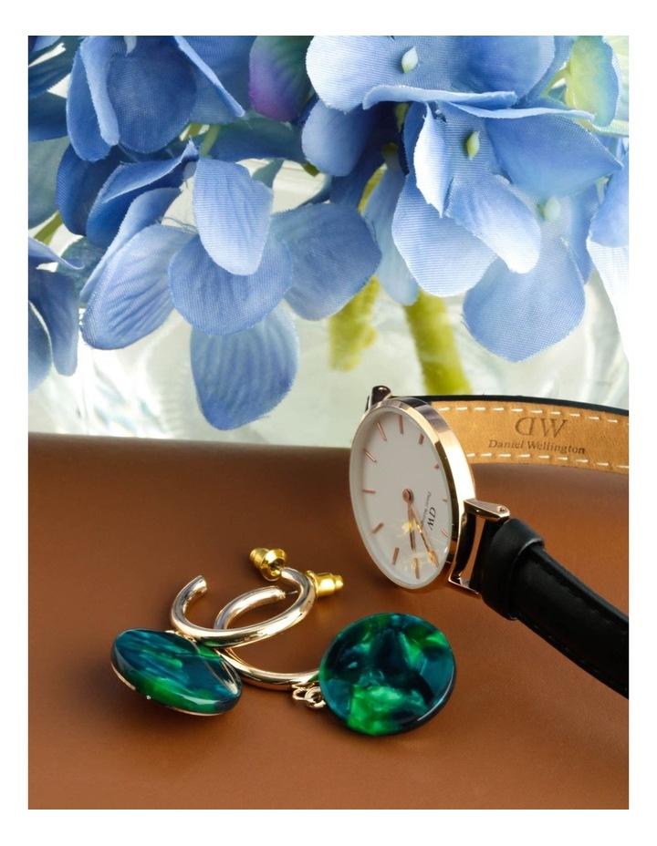 Hoop & Resin Disc Drop Earrings image 3