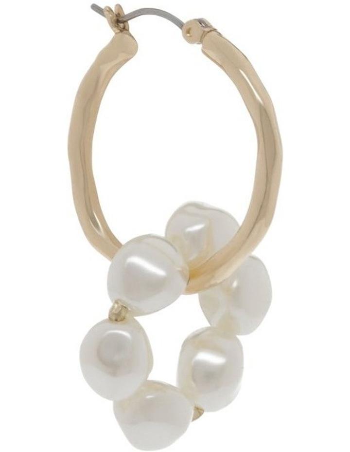 Gold Hoop & Linked Pearl Earrings image 2